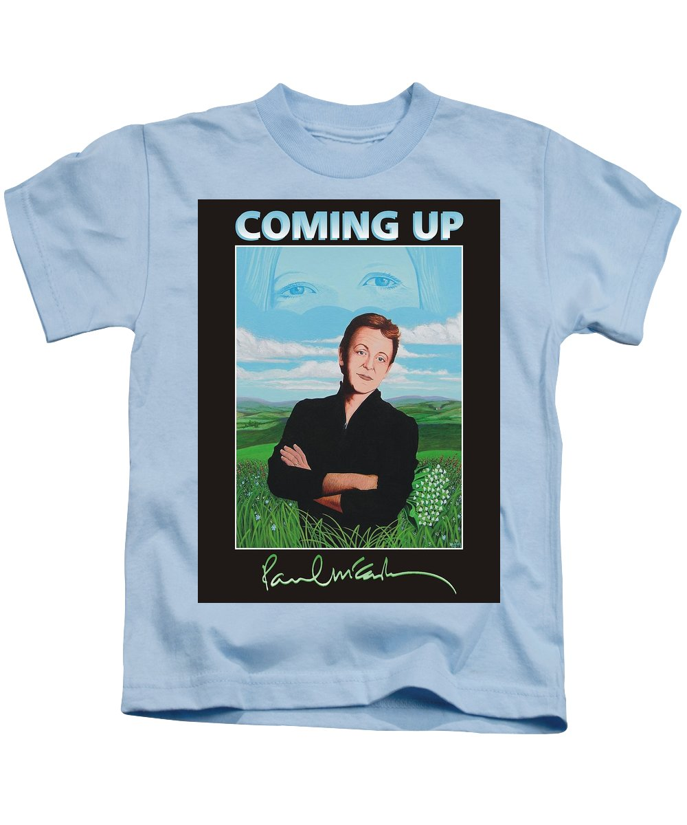 Paul Kids T-Shirt featuring the painting Paul Mccartney by Markus Neal Humby