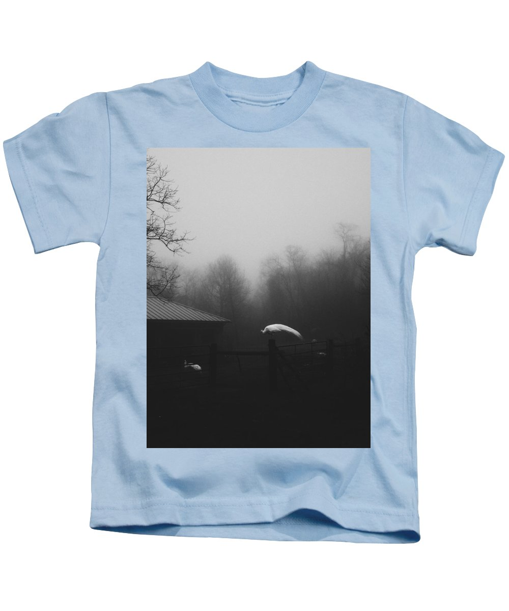 Peacock Kids T-Shirt featuring the photograph Peacock by Sarah Morgan
