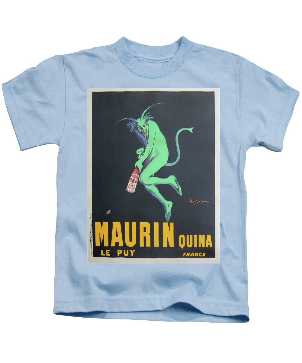 Advertisement Kids T-Shirt featuring the painting Vintage Poster - Maurin Quina by Vintage Images