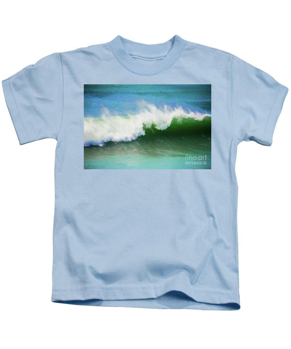 Surf Kids T-Shirt featuring the photograph Crashing surf by Sheila Smart Fine Art Photography