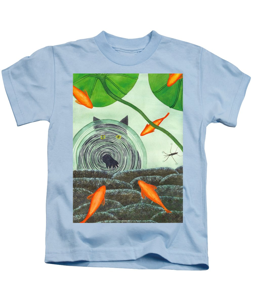 Goldfish Kids T-Shirt featuring the painting Marco Polo by Catherine G McElroy