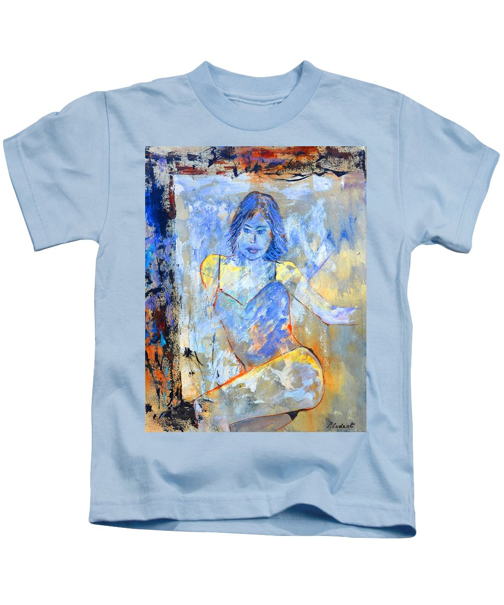 Erotic Kids T-Shirt featuring the painting Sophie by Pol Ledent