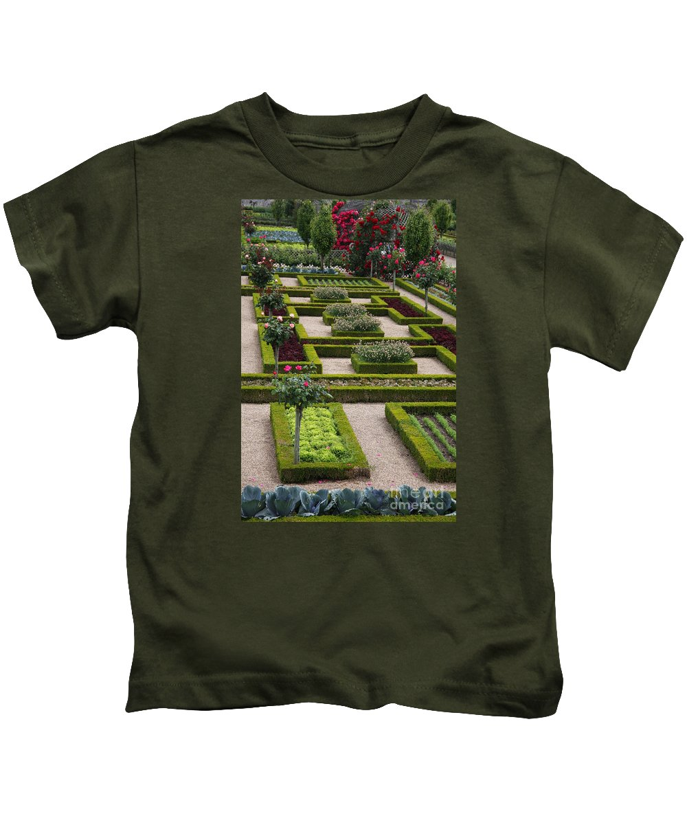 Cabbage Kids T-Shirt featuring the photograph Cabbage Garden Chateau Villandry by Christiane Schulze Art And Photography