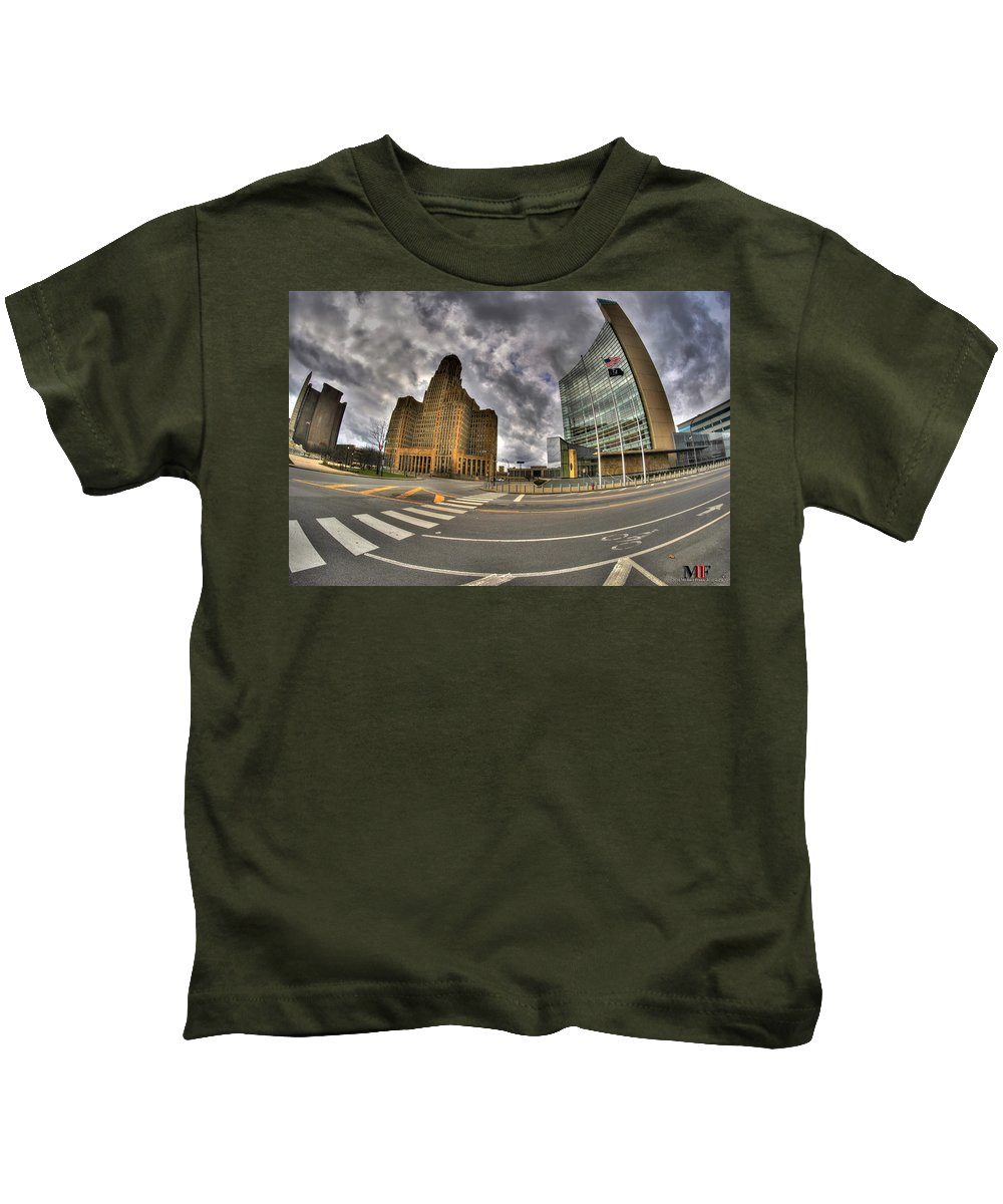 Michael Frank Jr Kids T-Shirt featuring the photograph 009 The Crossing by Michael Frank Jr