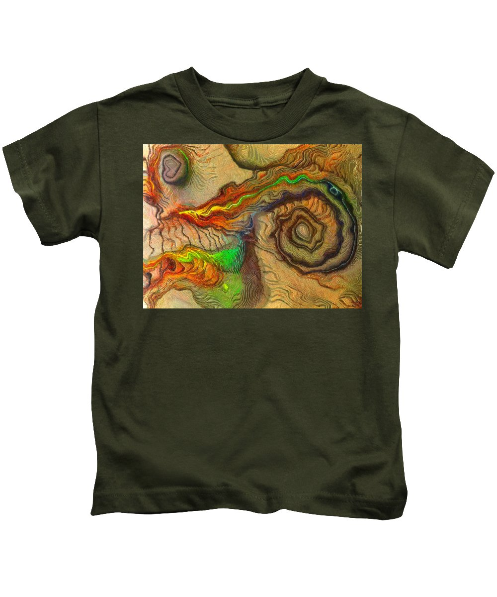 Still Life Kids T-Shirt featuring the painting 0135 by I J T Son Of Jesus