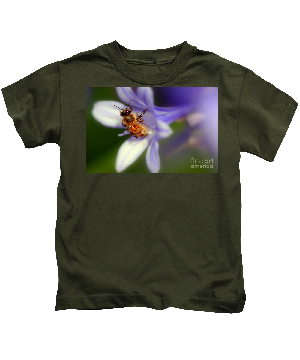 Bee Kids T-Shirt featuring the photograph Agapanthus Africanus by Henrik Lehnerer