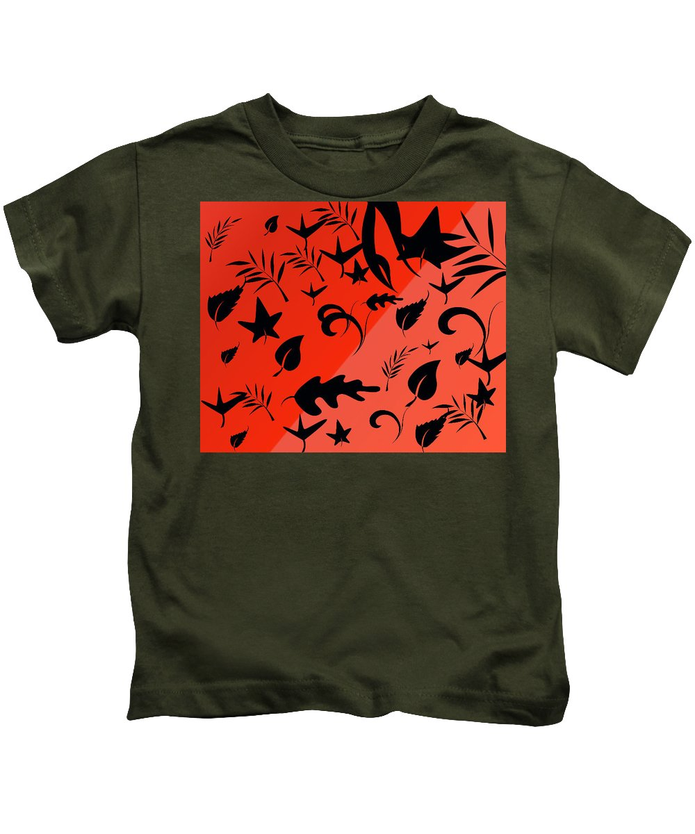Autumn Kids T-Shirt featuring the painting Autumn Leaves by Bruce Nutting