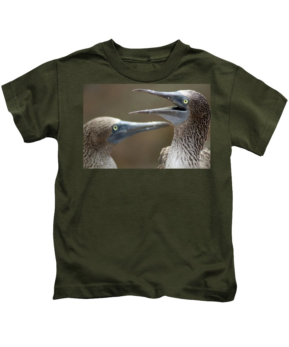 Kids T-Shirt featuring the photograph Blue-footed Boobies by Karla Weber