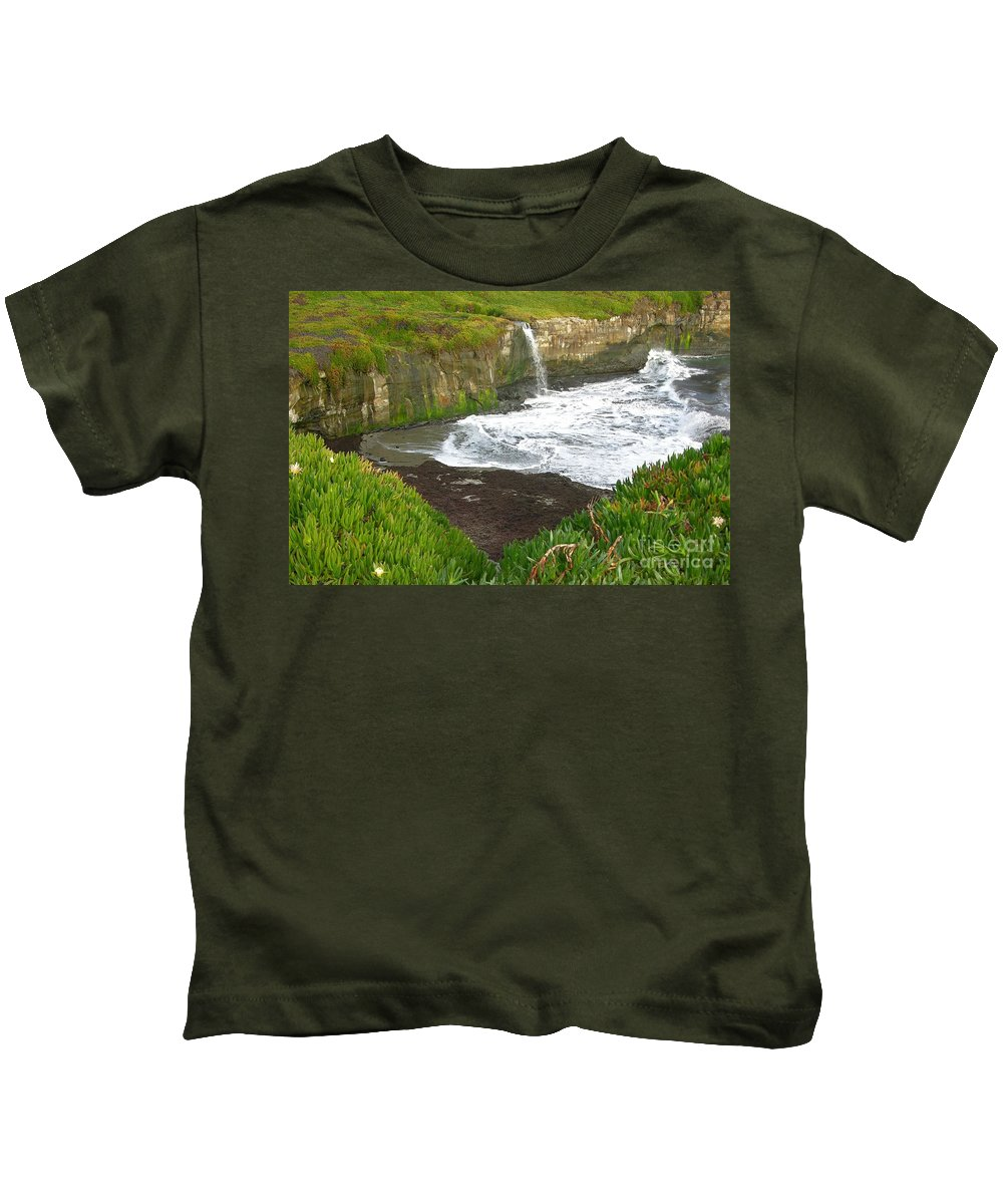 Cove Kids T-Shirt featuring the photograph California Cove by Carol Groenen