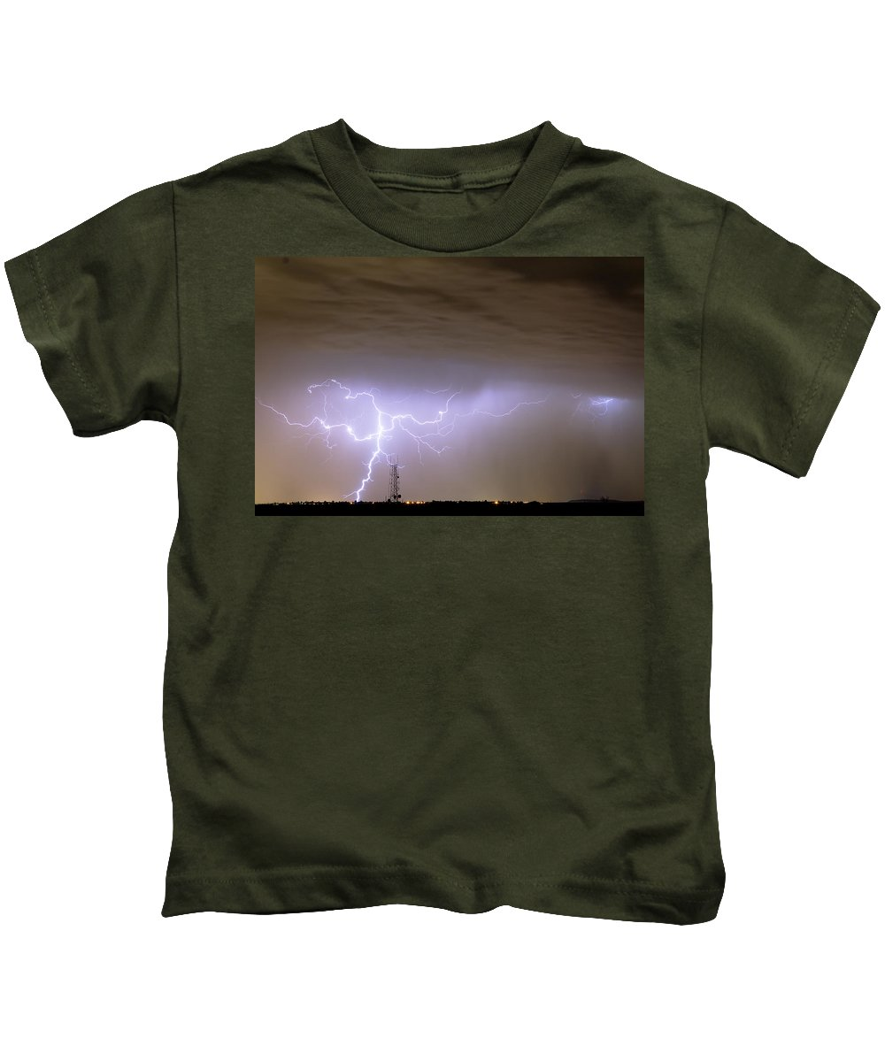 Lightning Kids T-Shirt featuring the photograph Electric Night by James BO Insogna
