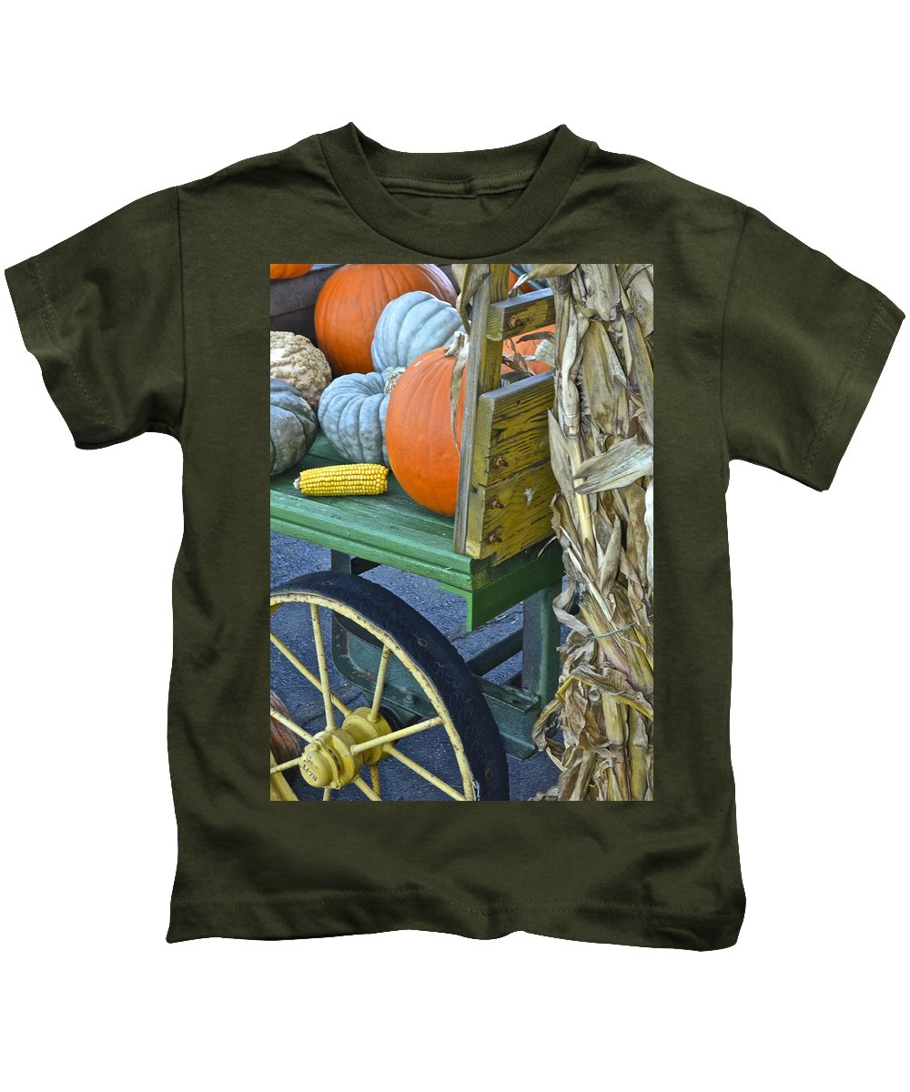 Autumn Kids T-Shirt featuring the photograph Farmers Market by Frozen in Time Fine Art Photography