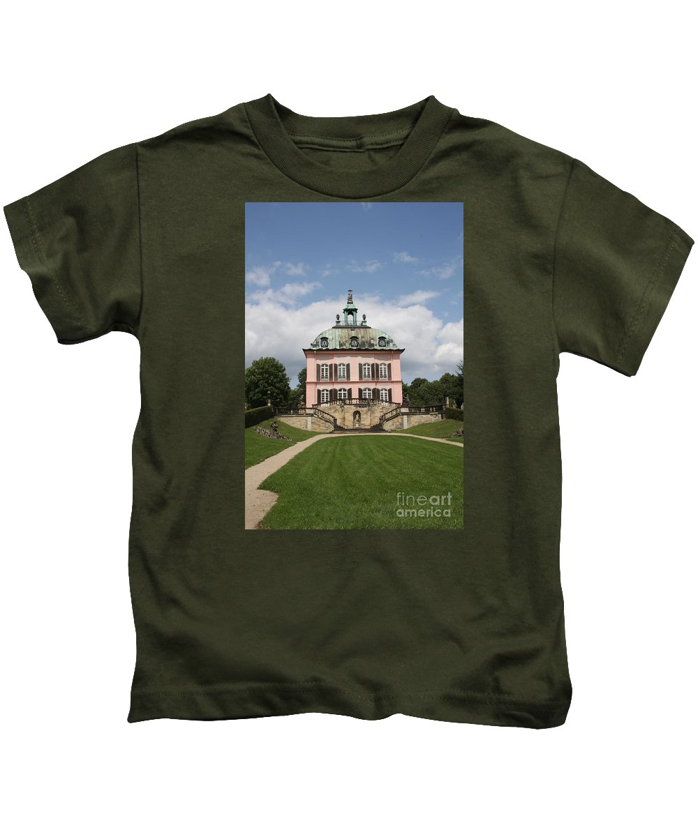 Palace Kids T-Shirt featuring the photograph Fasanen Schloesschen - Germany  Pheasant Palace by Christiane Schulze Art And Photography