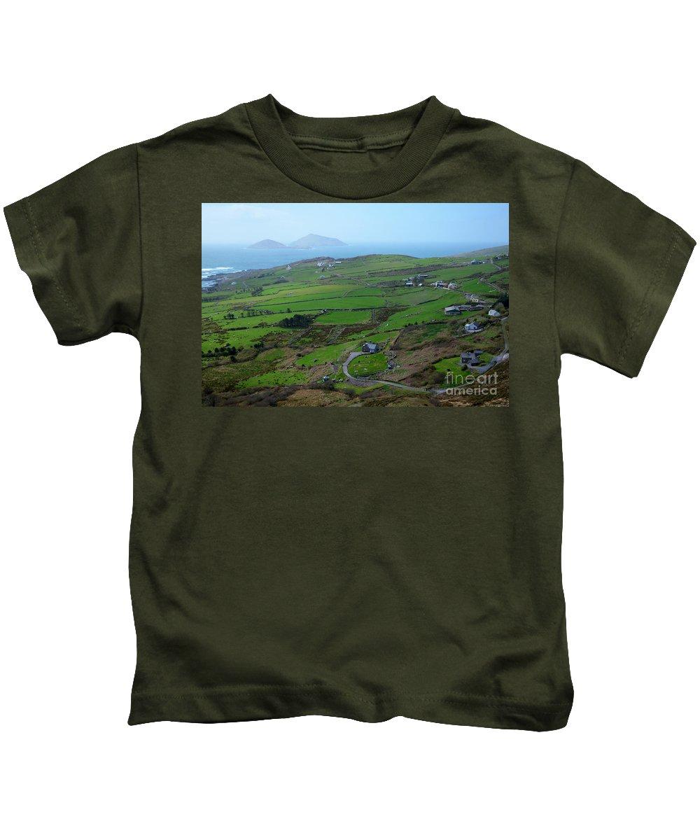 Irish Kids T-Shirt featuring the photograph Irish Coast by DejaVu Designs
