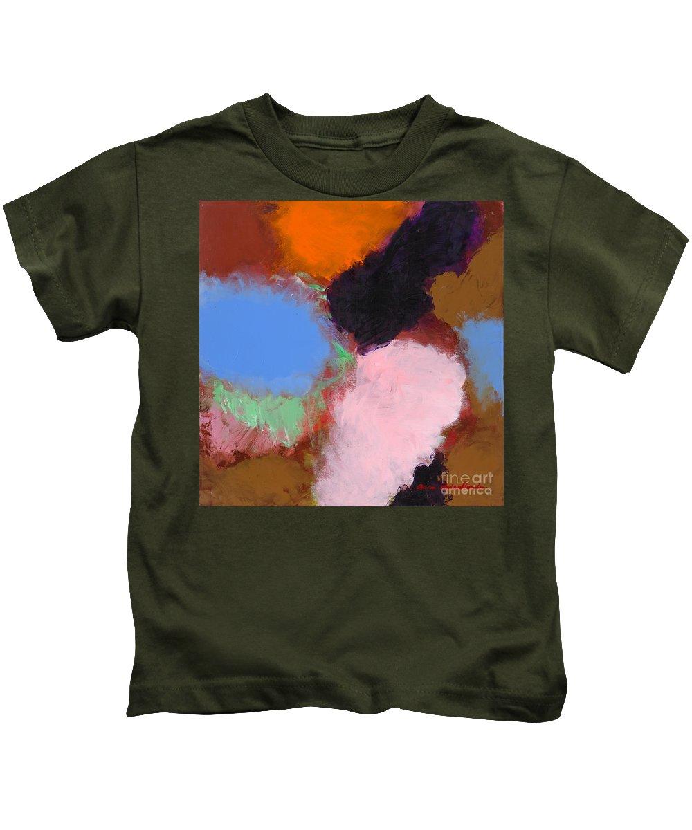 Landscape Kids T-Shirt featuring the painting Jordan Park 504 by Allan P Friedlander