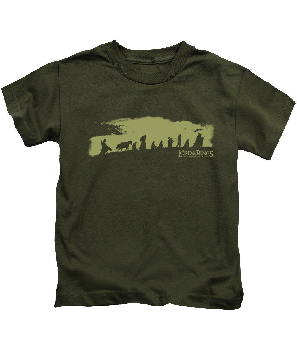 Kids T-Shirt featuring the digital art Lor - The Fellowship by Brand A