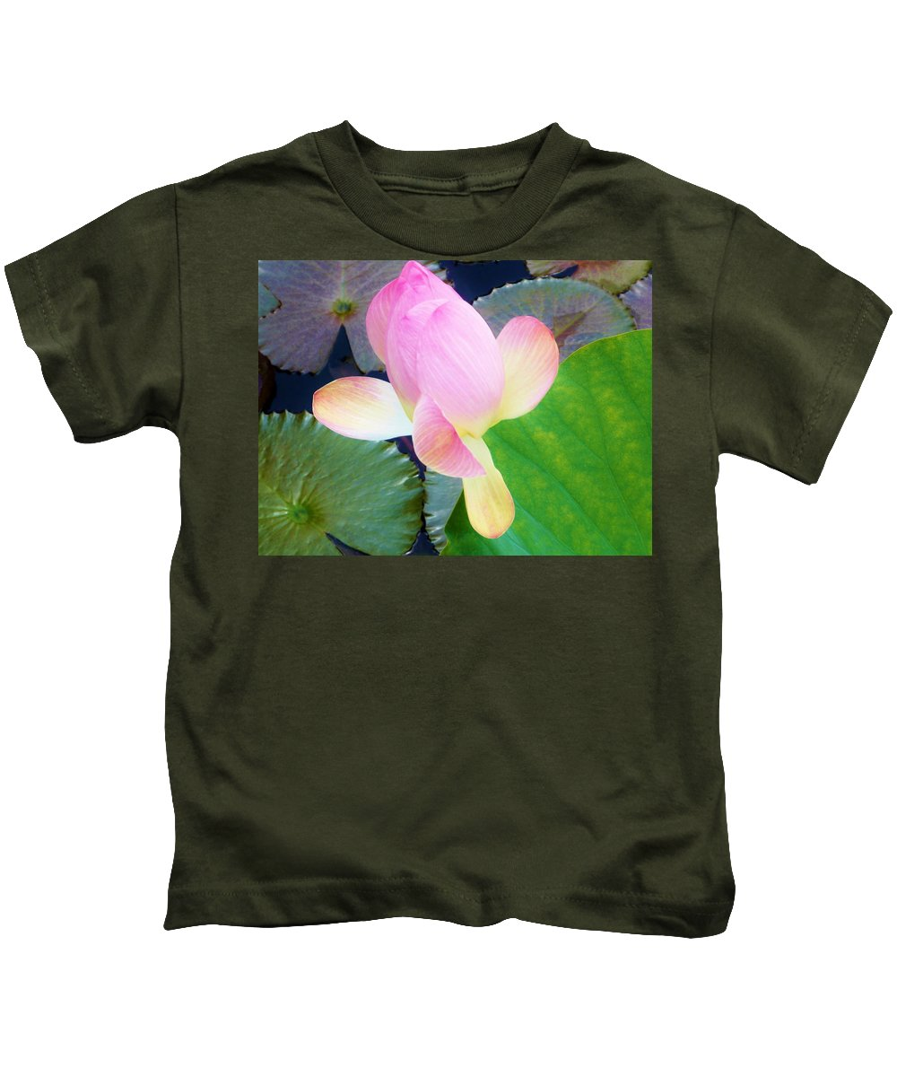 Color Kids T-Shirt featuring the photograph Lotus Lilly by Amar Sheow