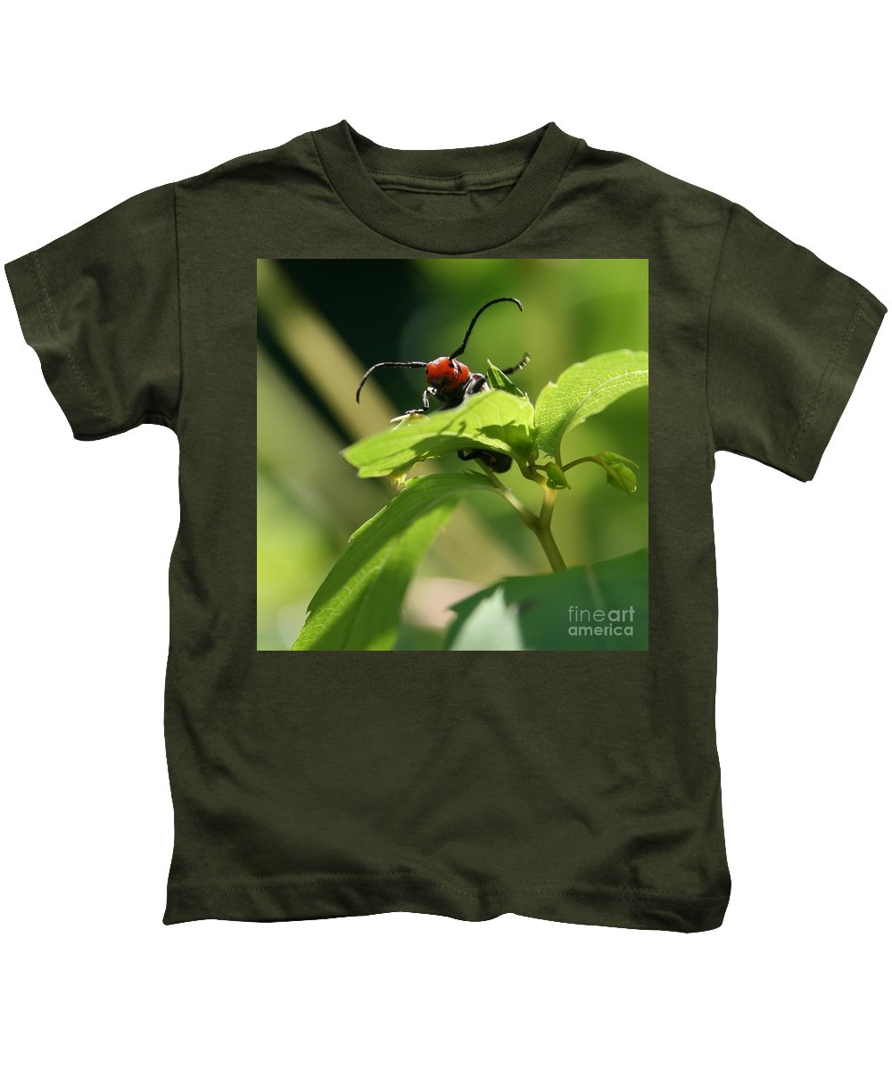 Insect Kids T-Shirt featuring the photograph Mountains To Climb by Neal Eslinger