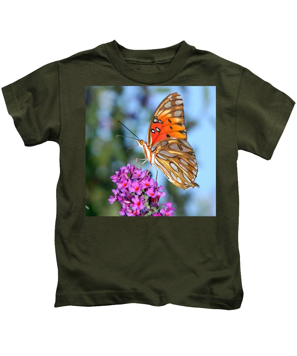 Passion Butterfly Kids T-Shirt featuring the photograph Passion Butterfly by Stacy Egnor