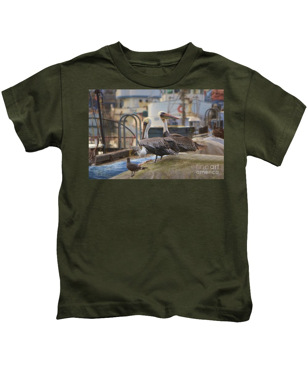 Pelican Kids T-Shirt featuring the photograph Pelican Duo by Donna Greene