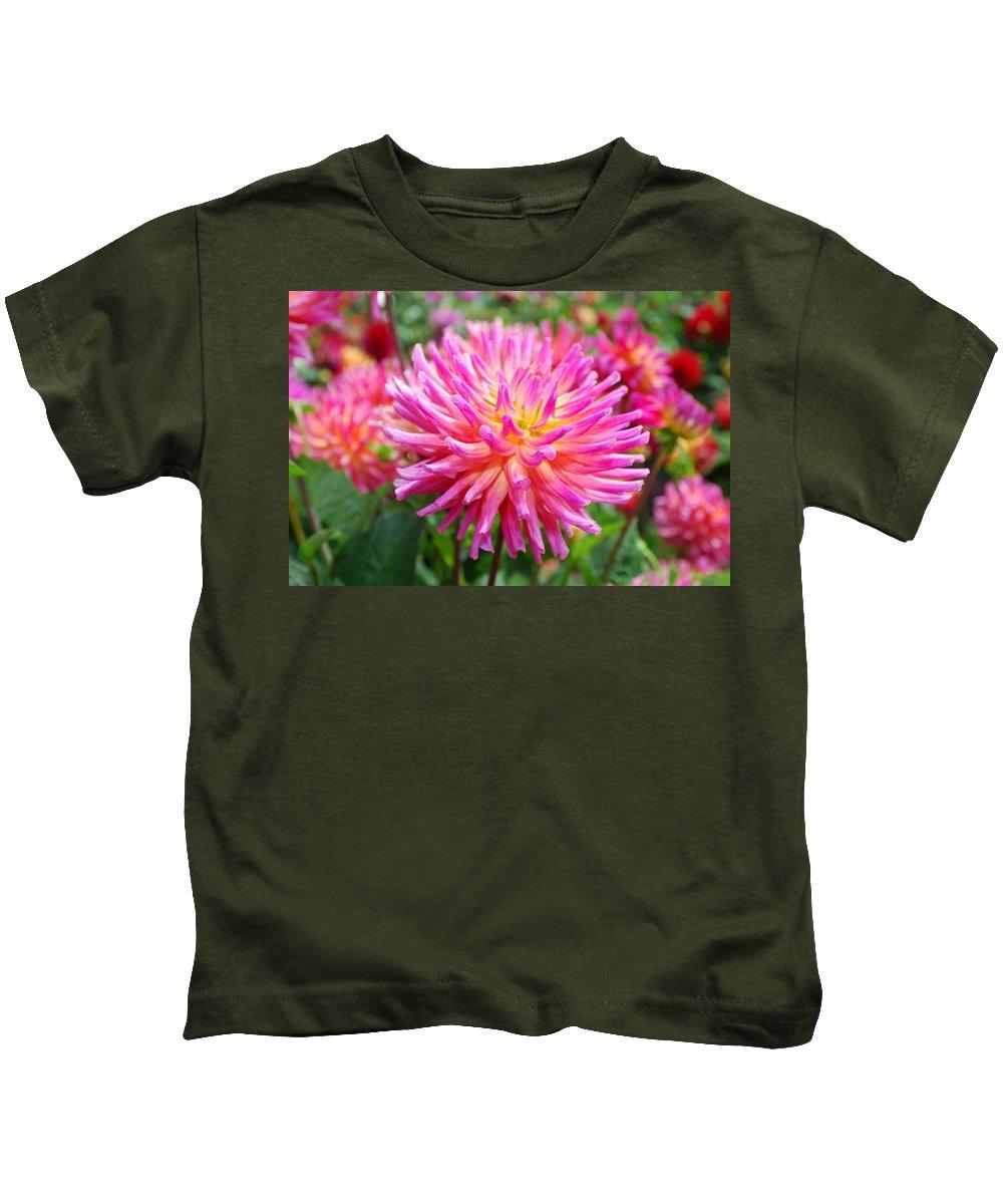 Pink Kids T-Shirt featuring the photograph Pink Flower by Bradley Bennett
