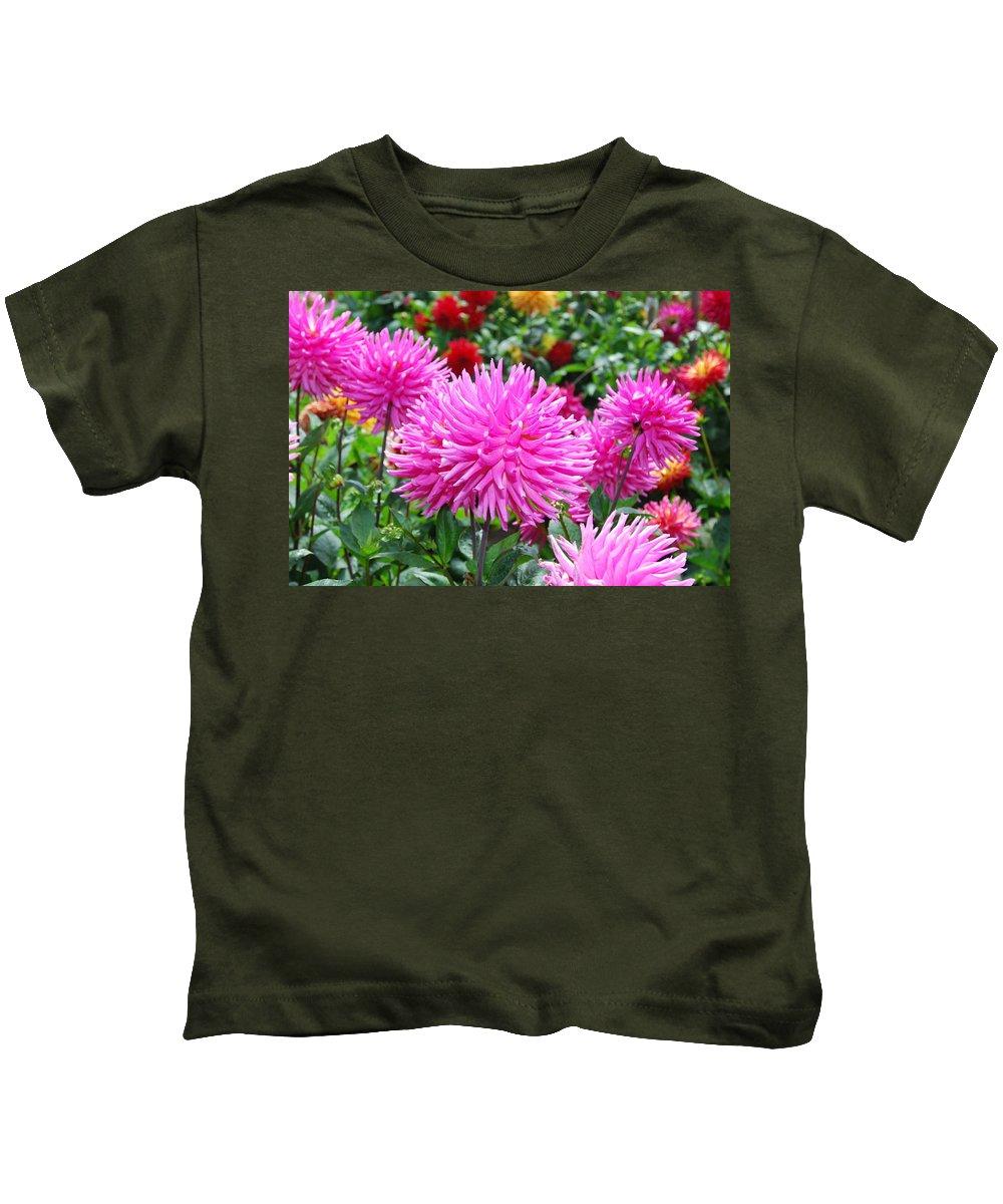Pink Kids T-Shirt featuring the photograph Pink Flowers by Bradley Bennett
