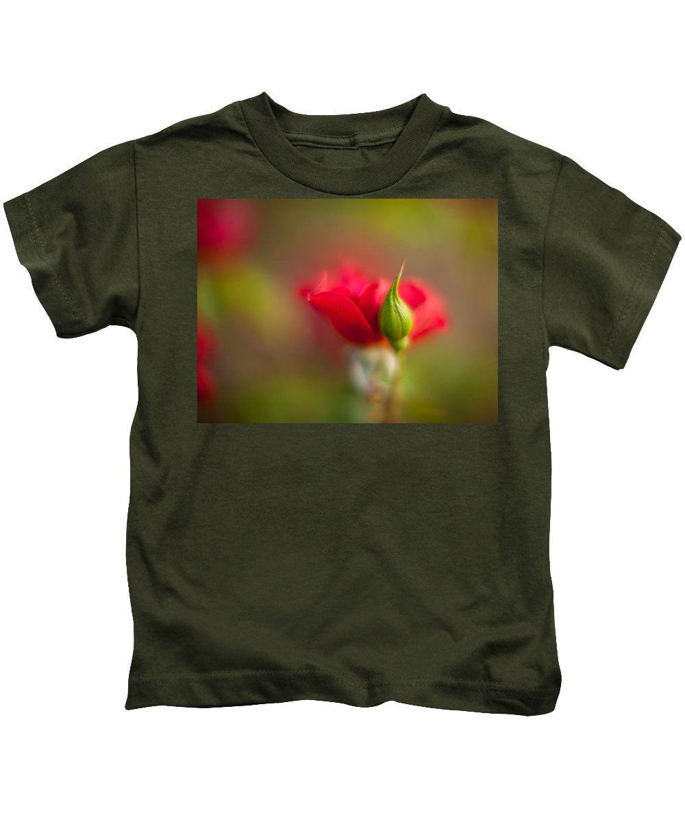 Flower Kids T-Shirt featuring the photograph Rosebud by Mike Reid
