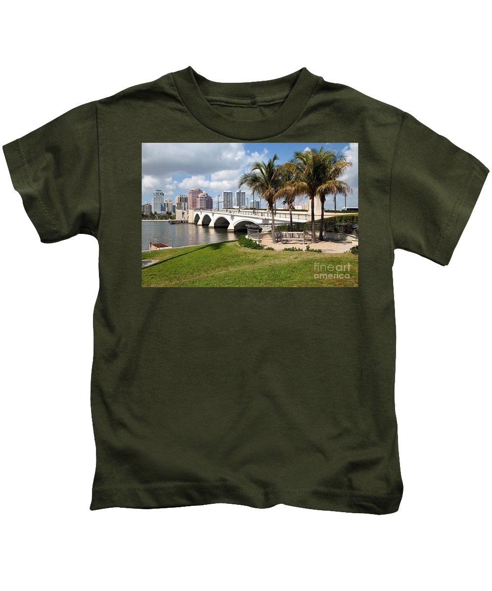 Florida Kids T-Shirt featuring the photograph Royal Park Bridge by Bill Cobb