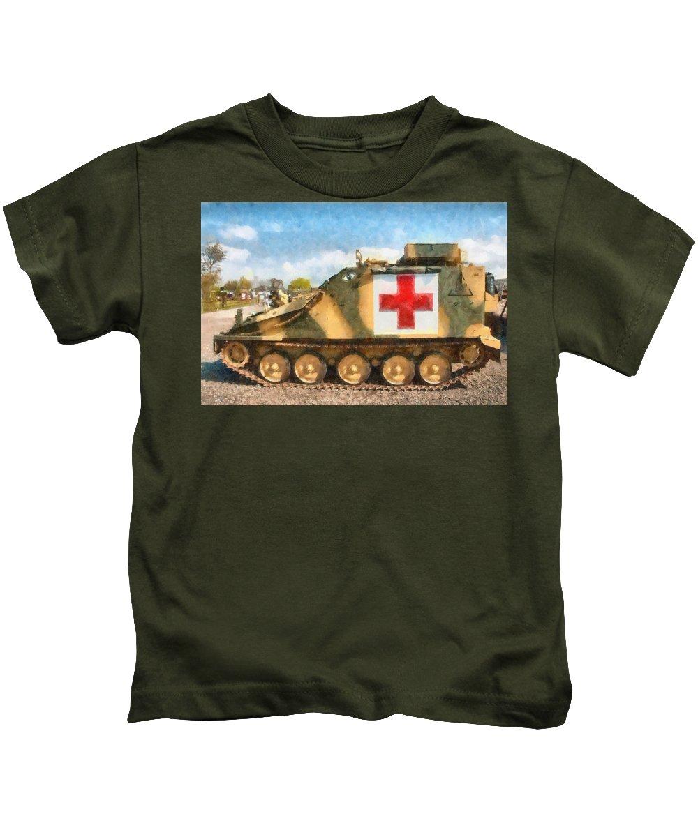Army Kids T-Shirt featuring the digital art Samaritan Ambulance by Roy Pedersen