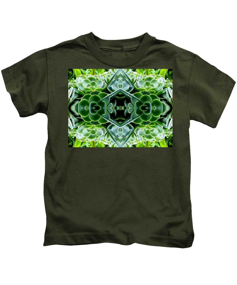 Bright Kids T-Shirt featuring the photograph Succulents by Candee Lucas