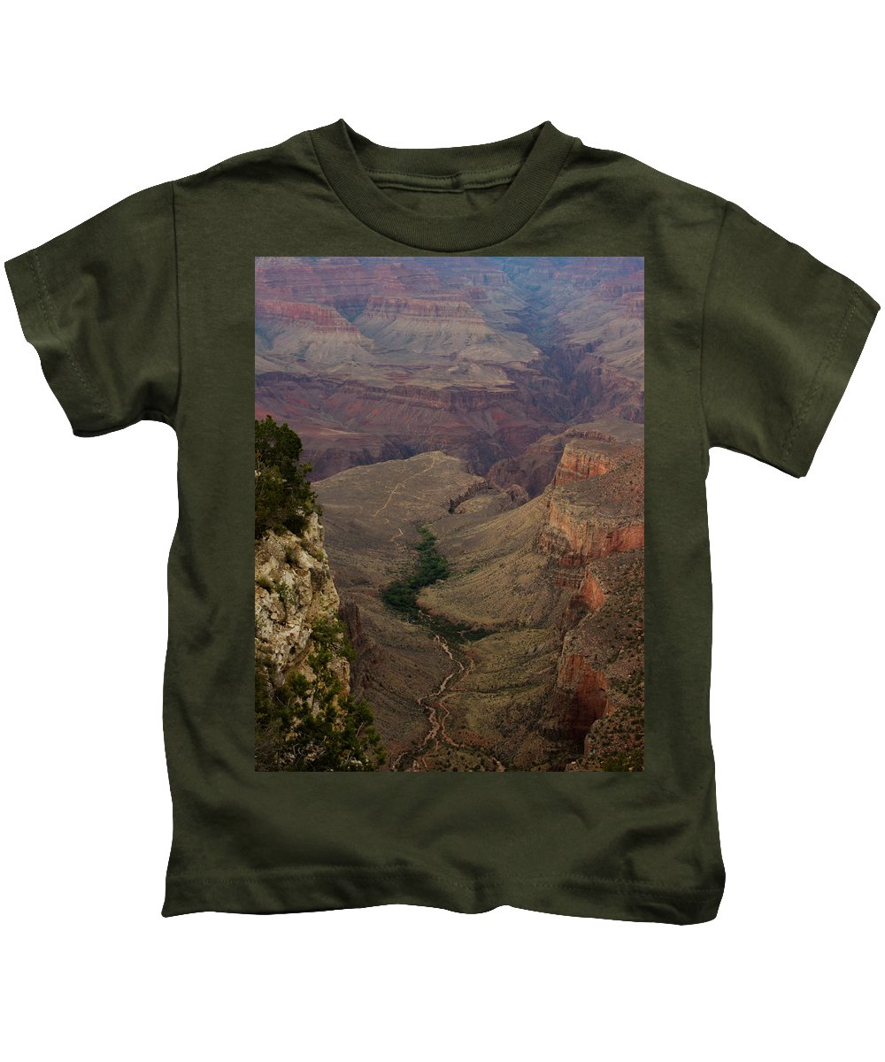 Grand Canyon Kids T-Shirt featuring the photograph The Awe Of Nature by Kathleen Odenthal