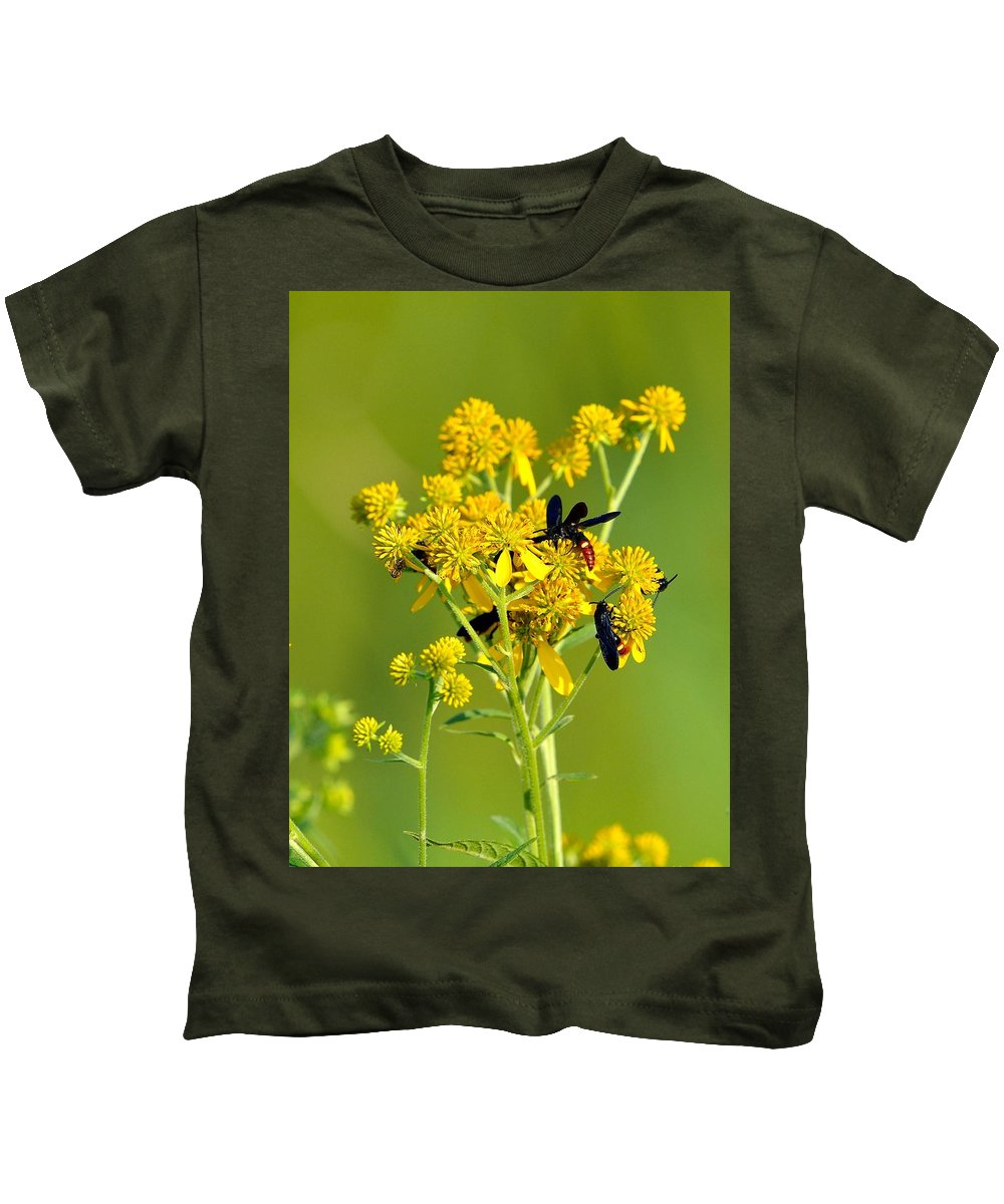 Todd Hostetter Kids T-Shirt featuring the photograph Yellow Flower by Todd Hostetter