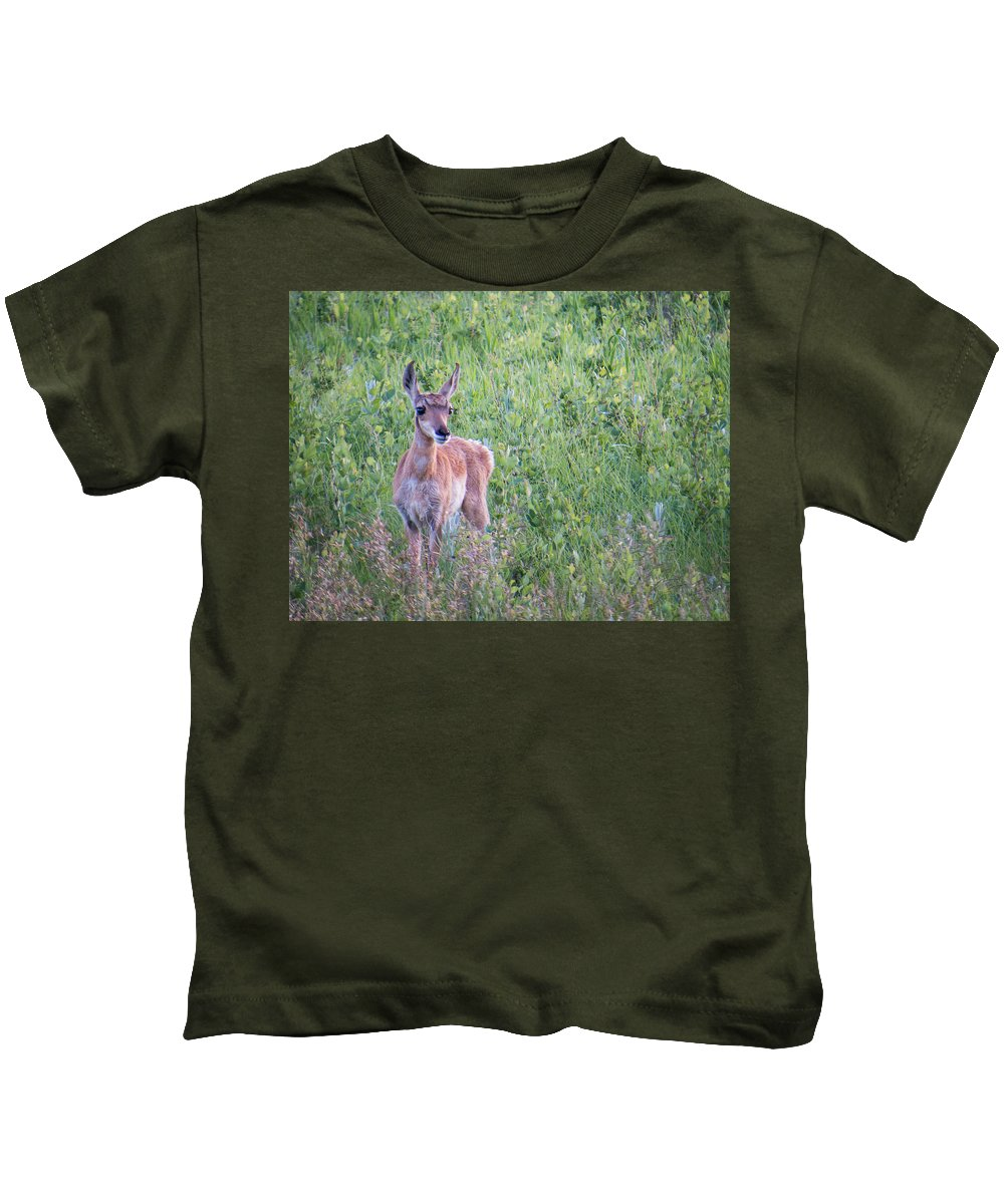 Pronghorn Kids T-Shirt featuring the photograph Pronghorn Antelope Portrait by Patti Deters