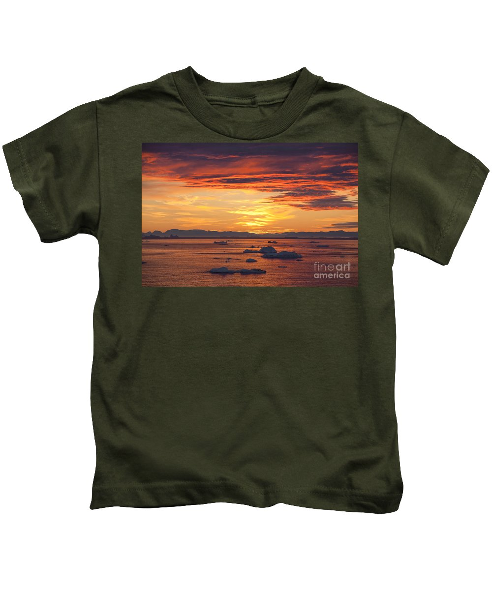 Iceberg Kids T-Shirt featuring the photograph 110307p086 by Arterra Picture Library