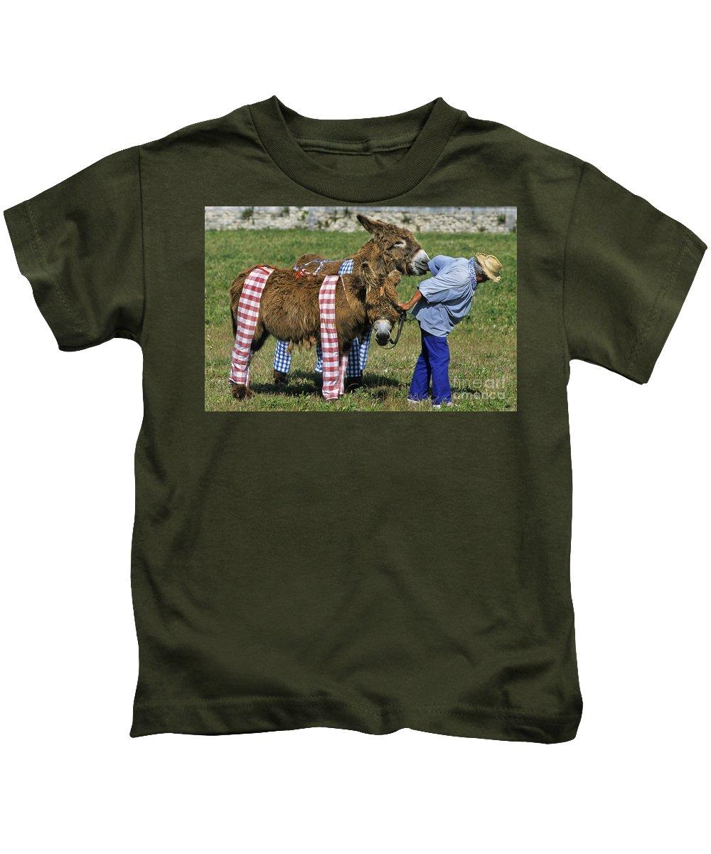 Baudet De Poitou Kids T-Shirt featuring the photograph 110307p164 by Arterra Picture Library