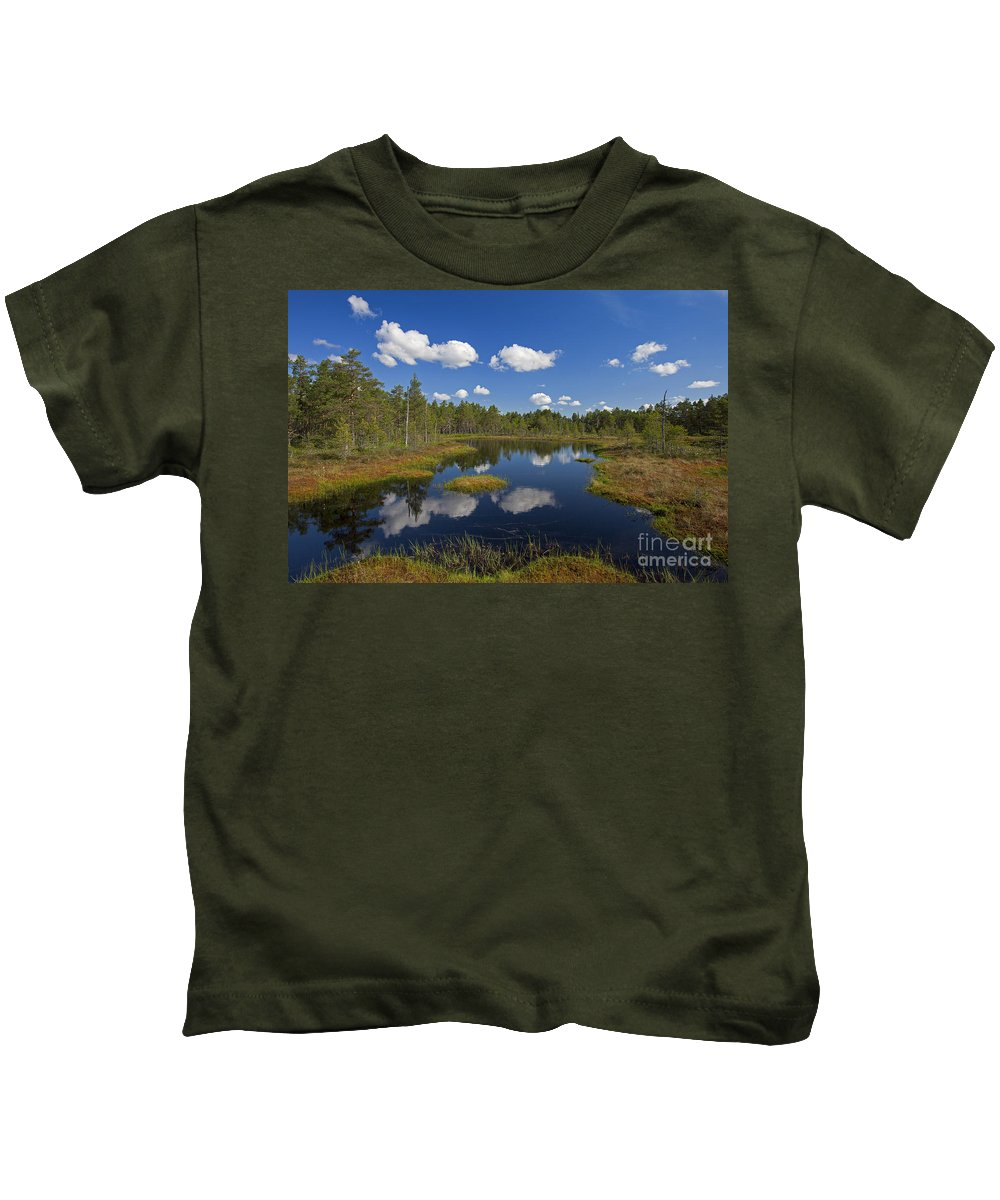 Moorland Kids T-Shirt featuring the photograph 110613p187 by Arterra Picture Library