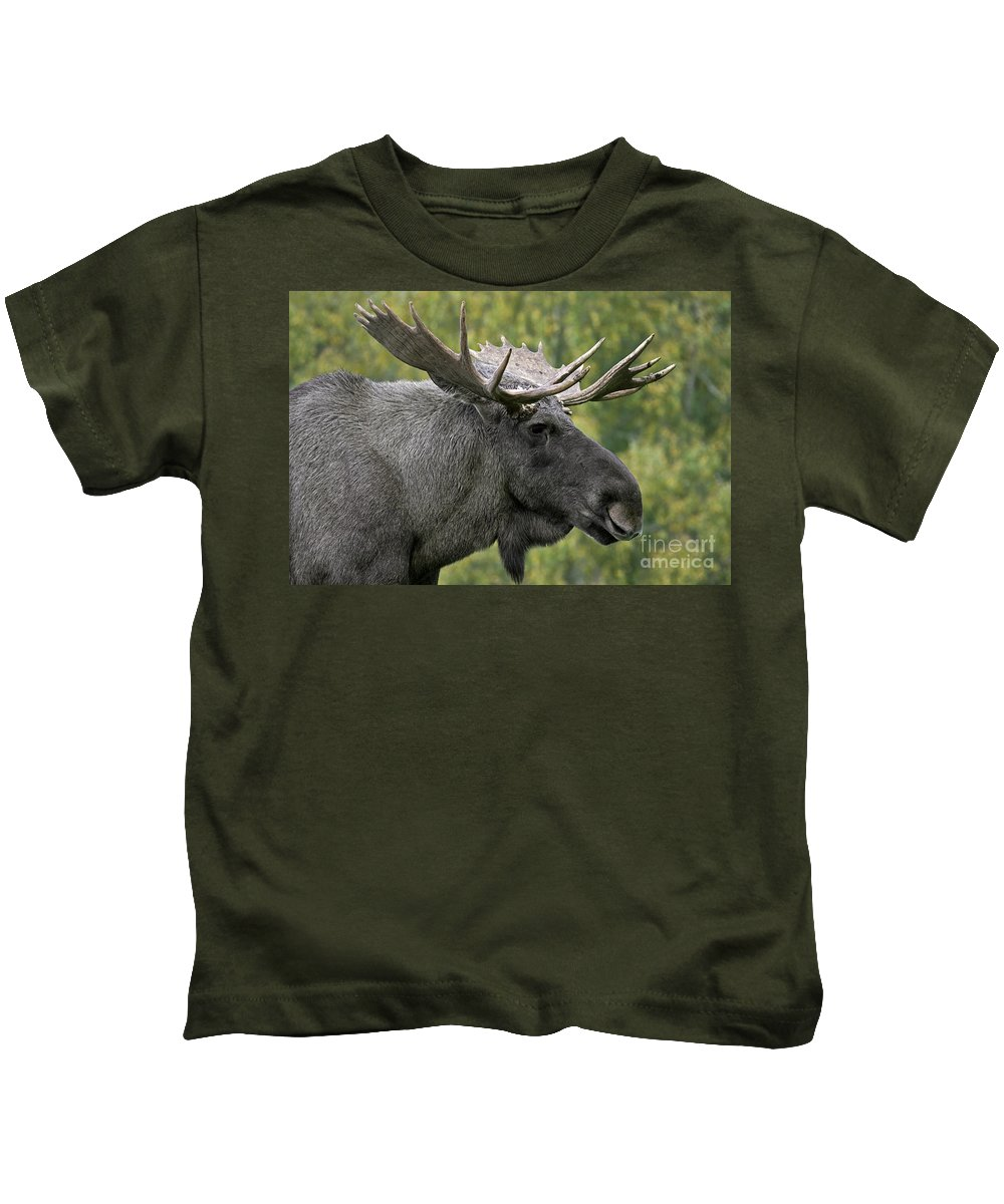 Moose Kids T-Shirt featuring the photograph 111216p113 by Arterra Picture Library