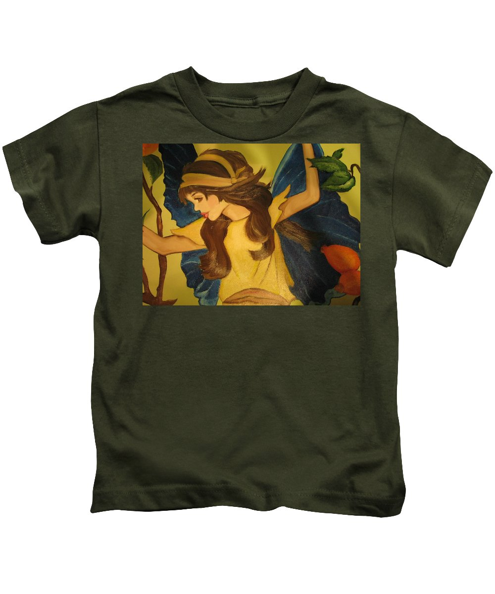 Pikotine Kids T-Shirt featuring the painting Pikotine Art by Pikotine Art
