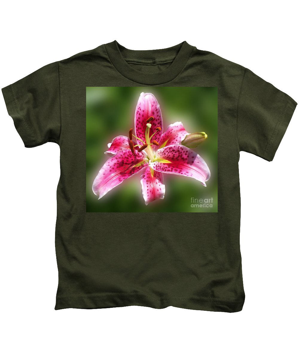 Lilly Kids T-Shirt featuring the photograph A Lilly For You by Thomas Woolworth