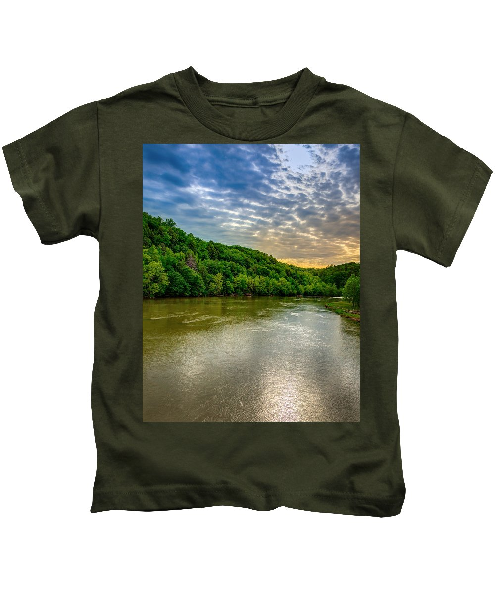 River Kids T-Shirt featuring the photograph Cumberland River by Alexey Stiop