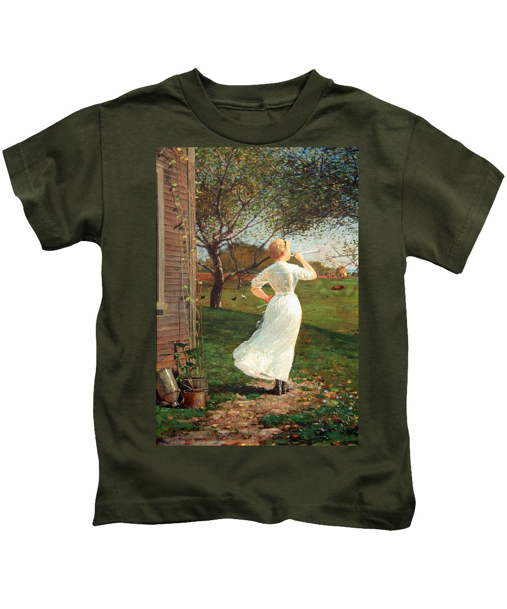 The Kids T-Shirt featuring the photograph Homer's The Dinner Horn by Cora Wandel