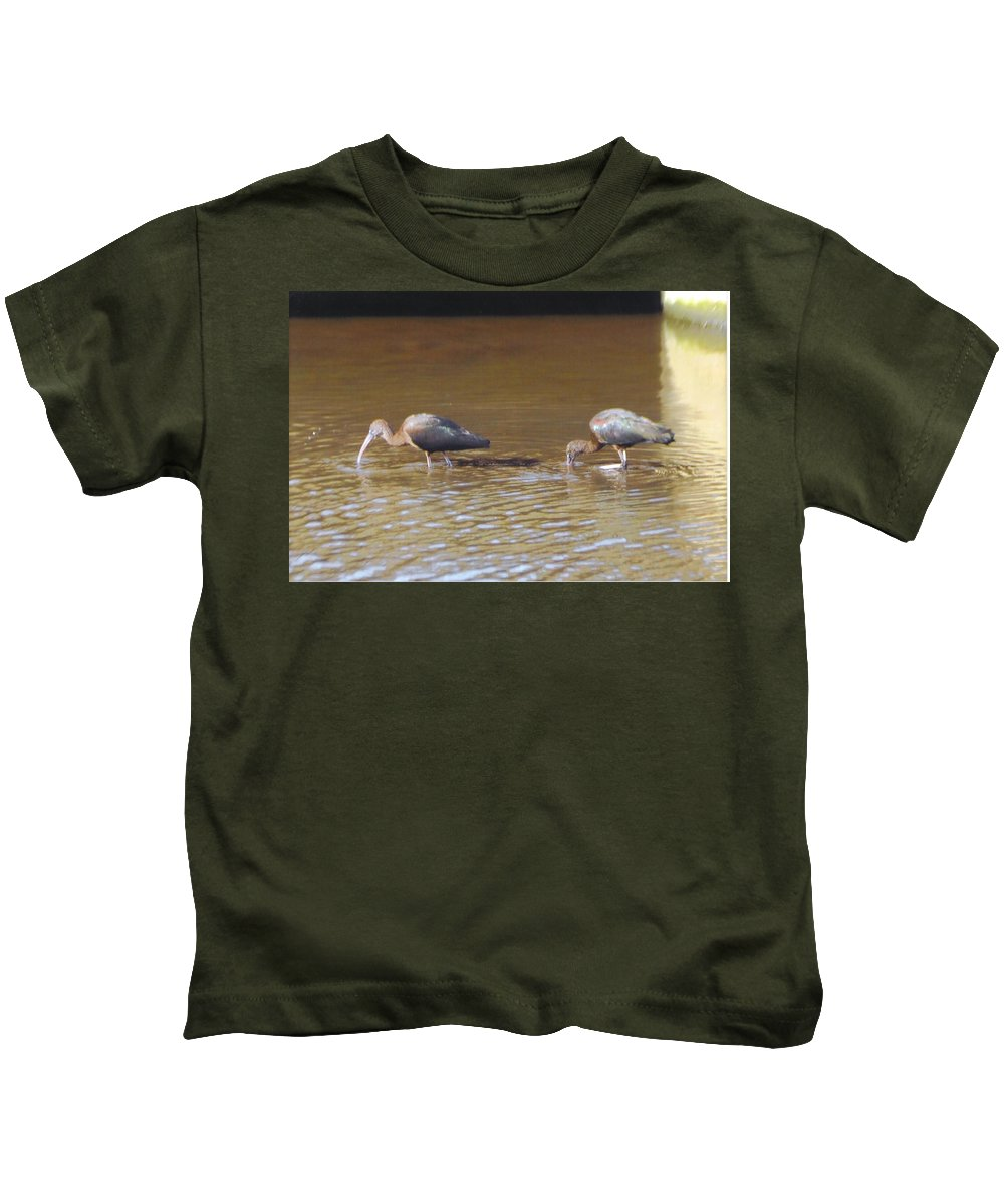 North Ft.myers Kids T-Shirt featuring the photograph Ibis by Robert Floyd