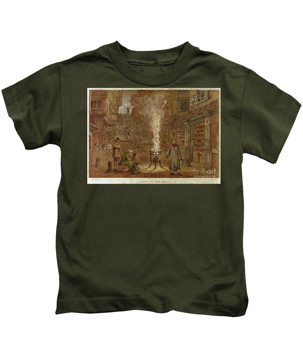 1665 Kids T-Shirt featuring the photograph Plague Of London, 1665 by Granger