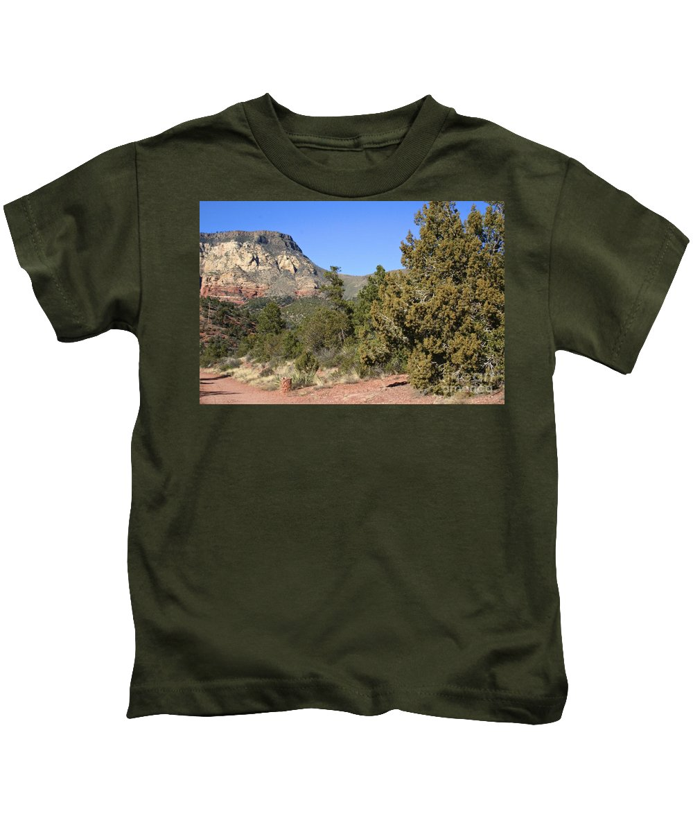 Red Kids T-Shirt featuring the photograph Red Rock Canyon by Christy Gendalia