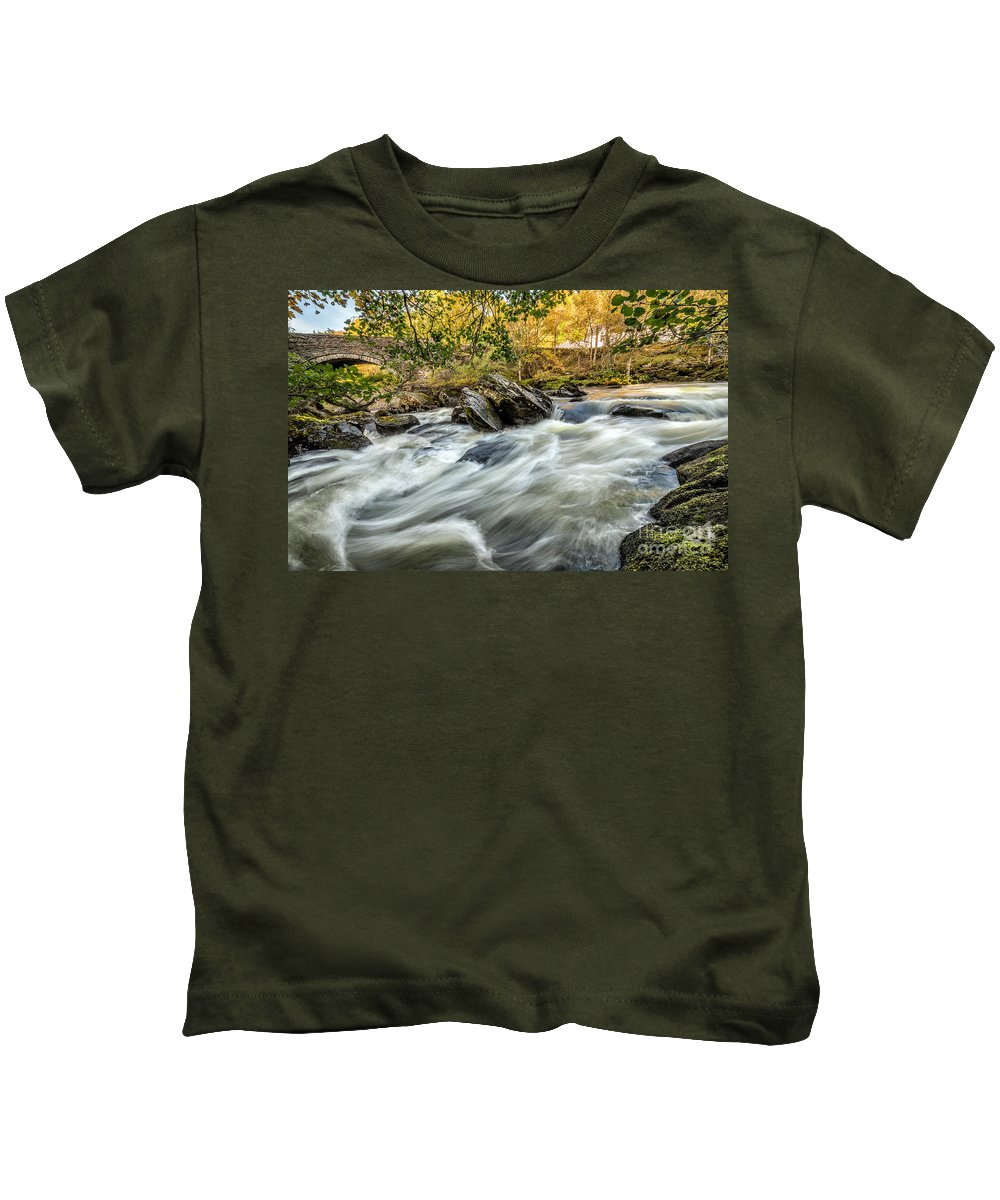 Waterscape Kids T-Shirt featuring the photograph Rocky River by Adrian Evans