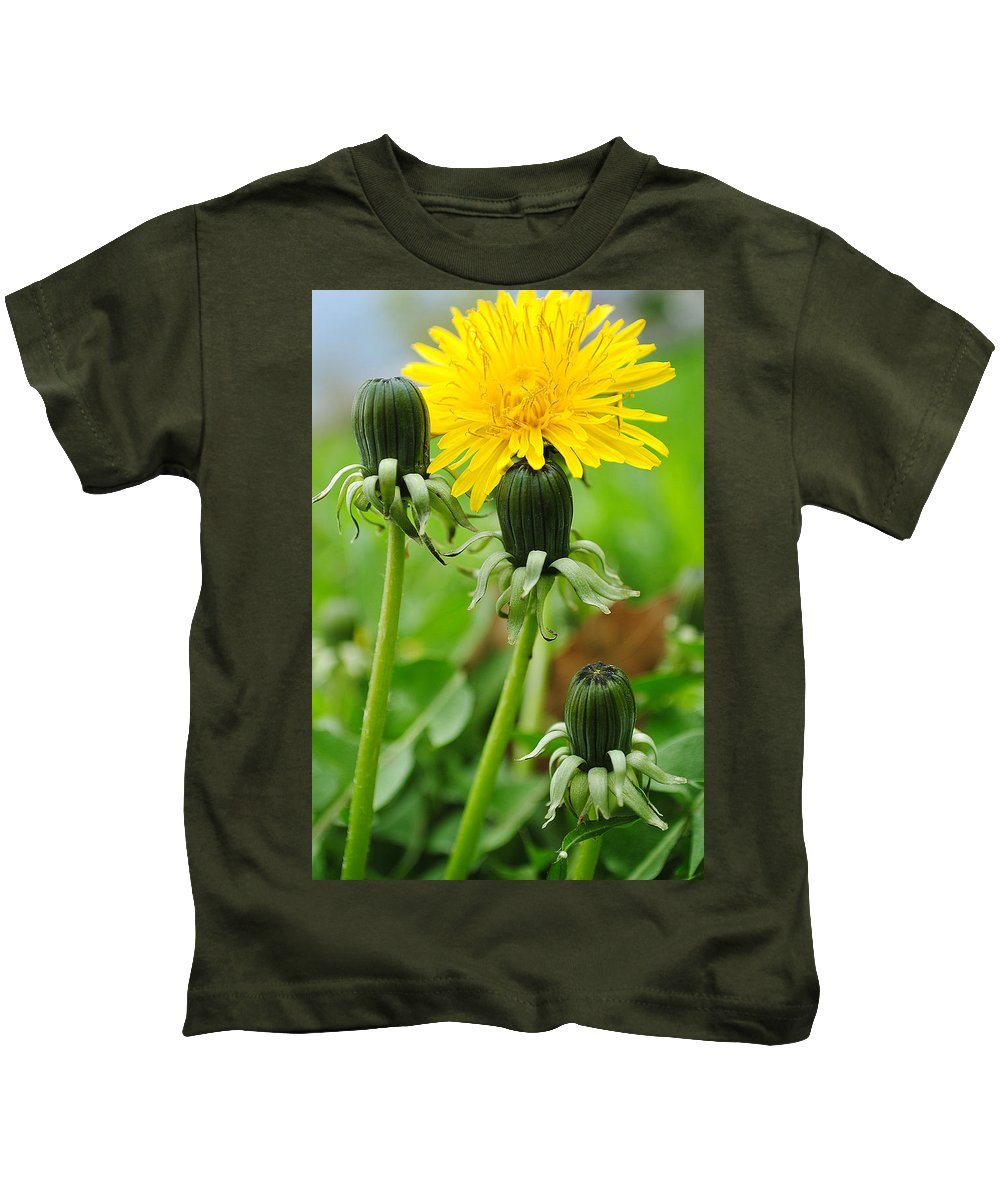 Dandelion Kids T-Shirt featuring the photograph Standing Tall by Frozen in Time Fine Art Photography