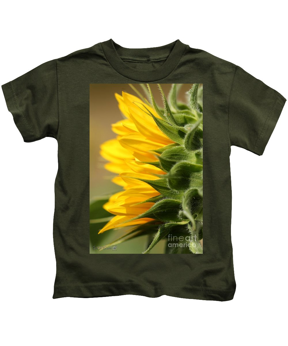 Mccombie Kids T-Shirt featuring the photograph Sunflower From The Color Fashion Mix by J McCombie