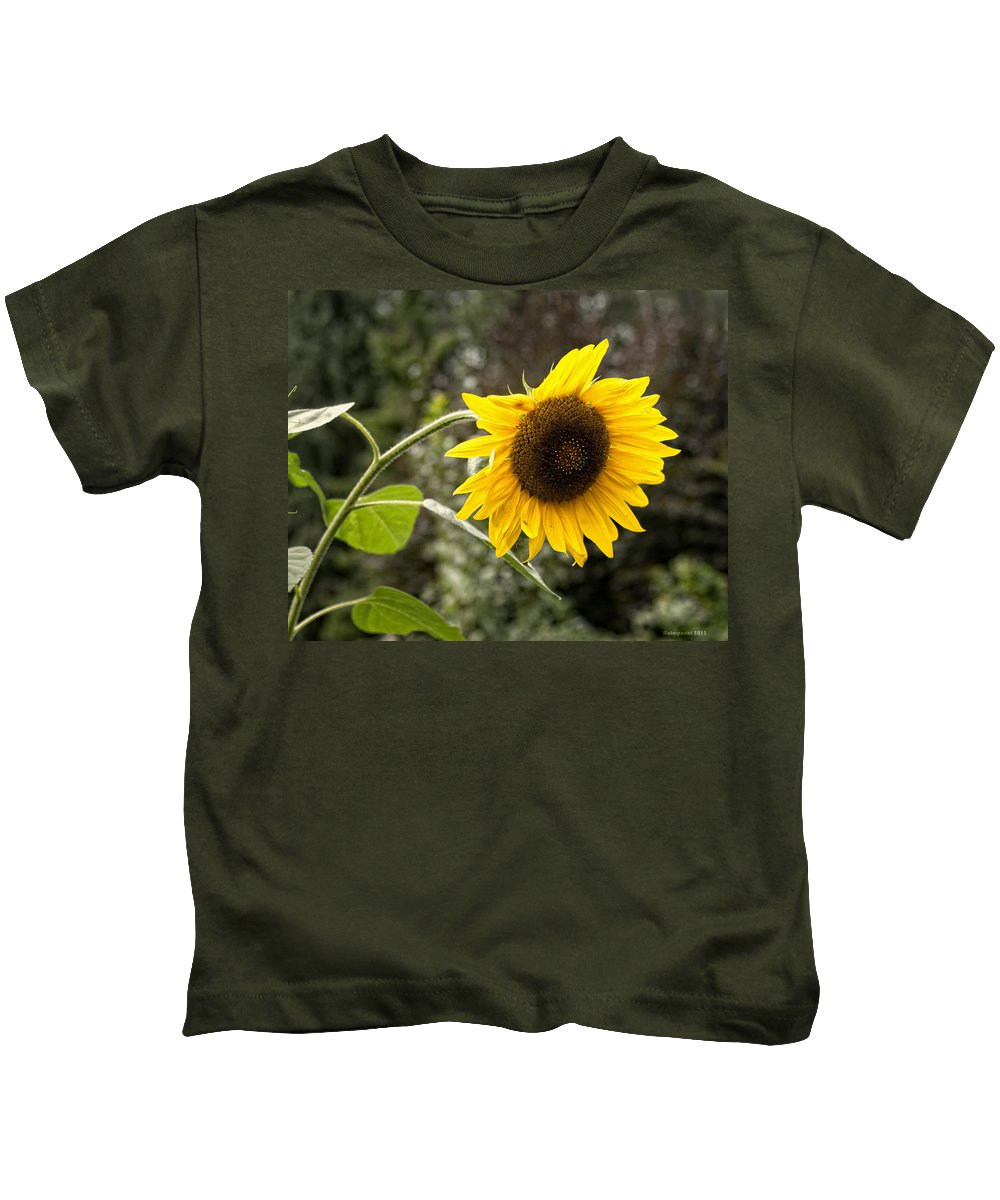 Sunflower Kids T-Shirt featuring the photograph Sunflower by Miguel Winterpacht