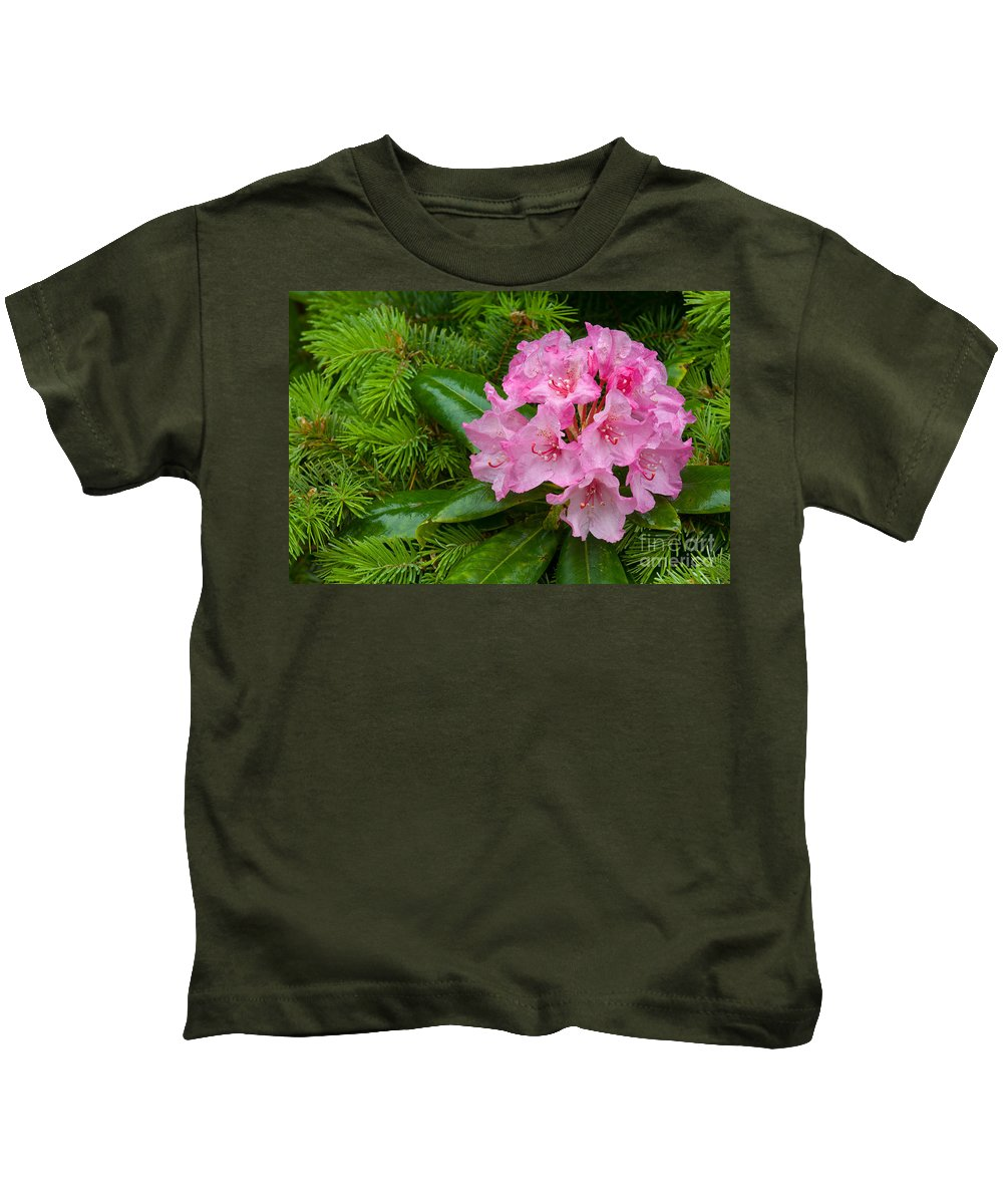 Pacific Rhododendron Kids T-Shirt featuring the photograph Rhododendron by John Shaw