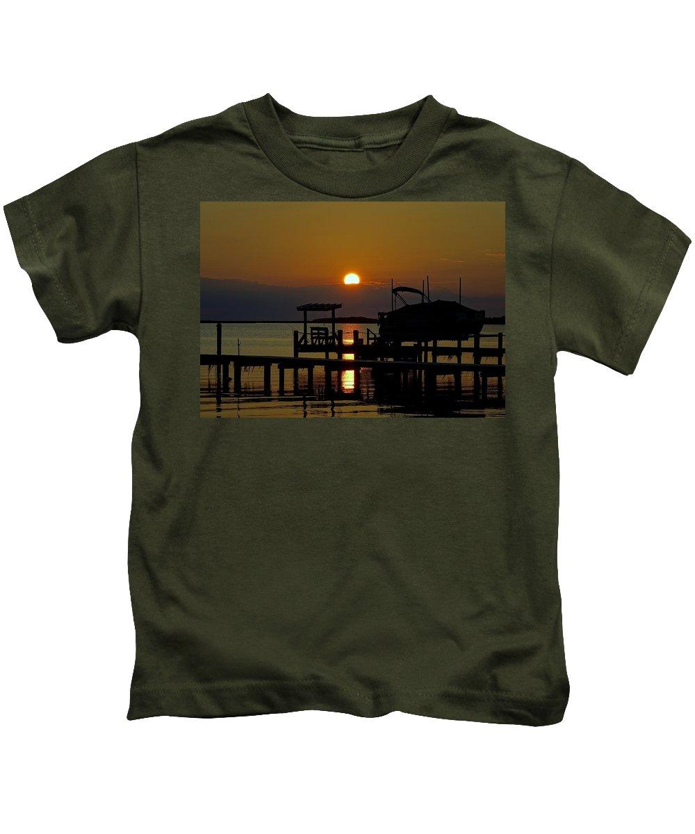 Obx Kids T-Shirt featuring the photograph An Outer Banks North Carolina Sunset by Richard Rosenshein