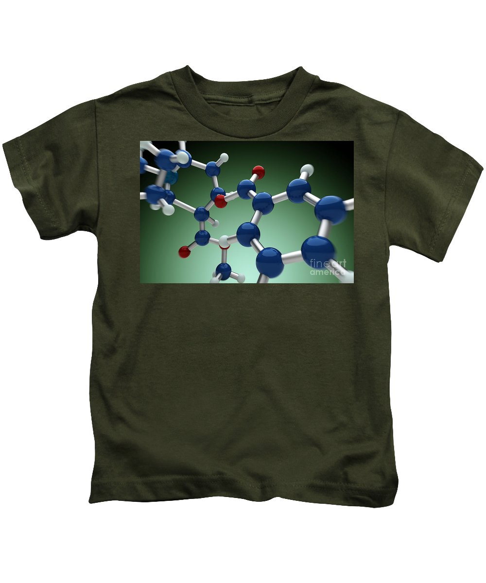 Biomedical Illustration Kids T-Shirt featuring the photograph Cocaine Molecule by Science Picture Co